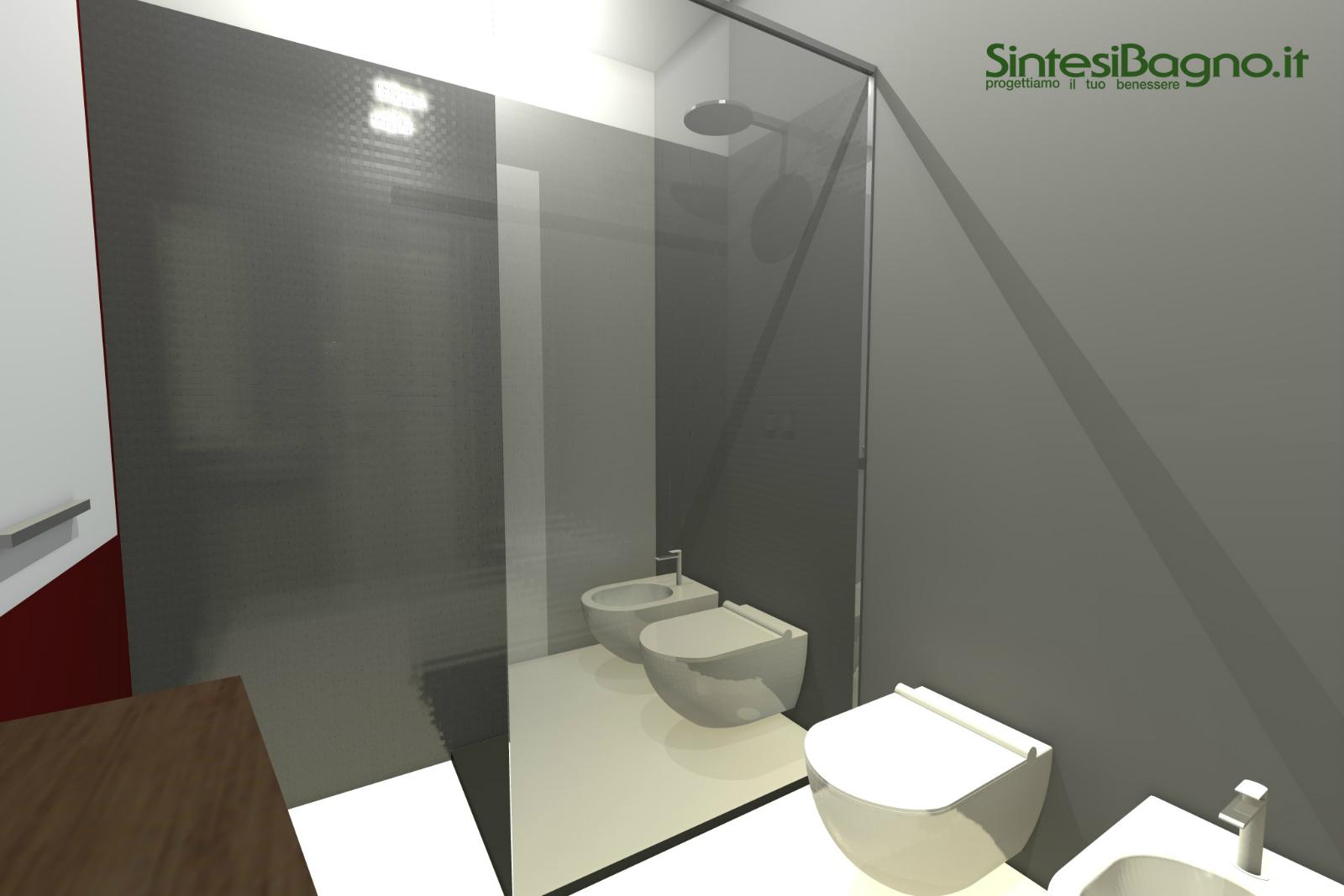 Rendering Revolution | Progetto rendering per un bagno piccolo