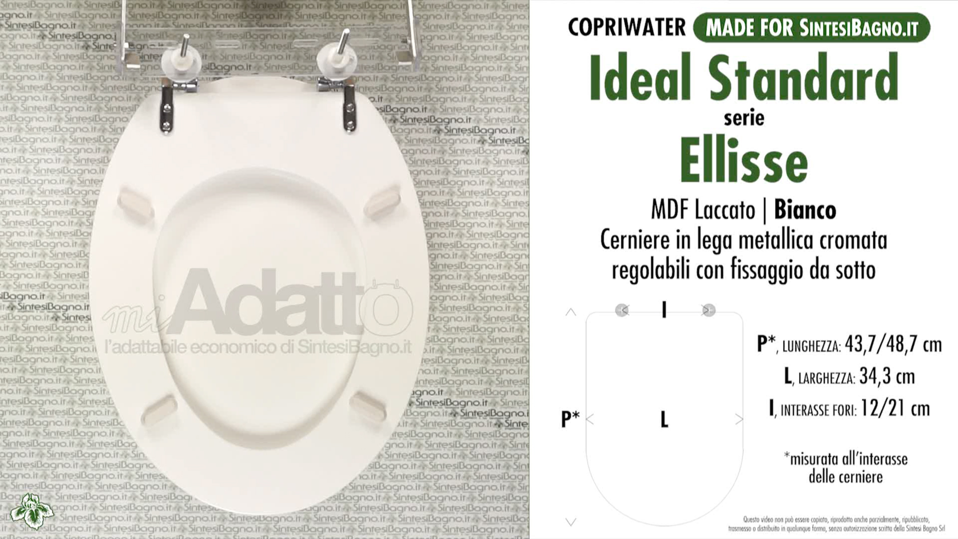 Copriwater economico per vaso ellisse ideal standard for Copriwater ellisse ideal standard