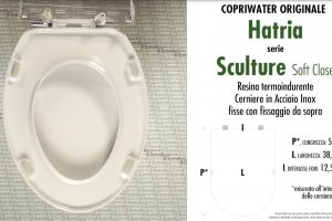 Copriwater per vaso SCULTURE / HATRIA. Tipo ORIGINALE. SOFT CLOSE